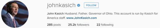 kasich instagram