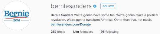 Sanders instagram