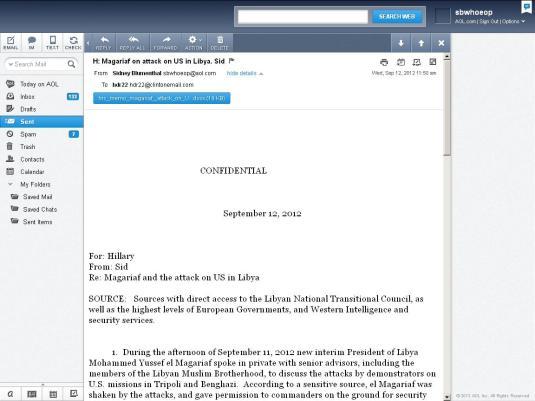 Blumenthal email screenshot