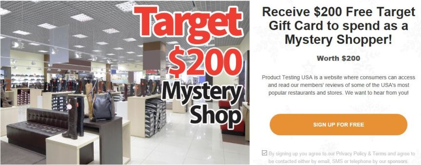 target real mystery shopper