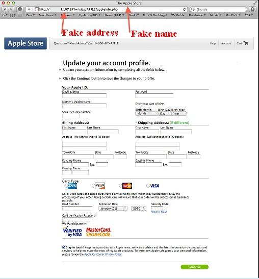 apple account info