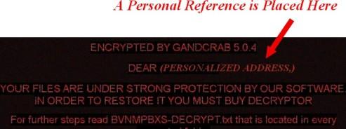 gandcrab message