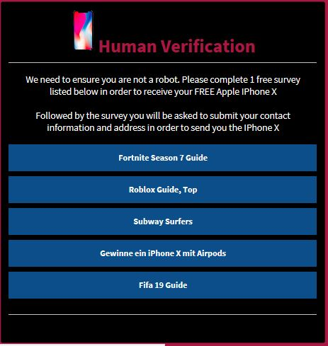human verification