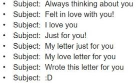 love subject